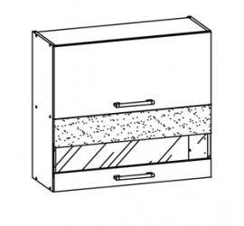 Pakabinama spintelė su stiklu BOMODMD-9